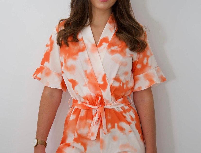 Orange Tie Dye Playsuit