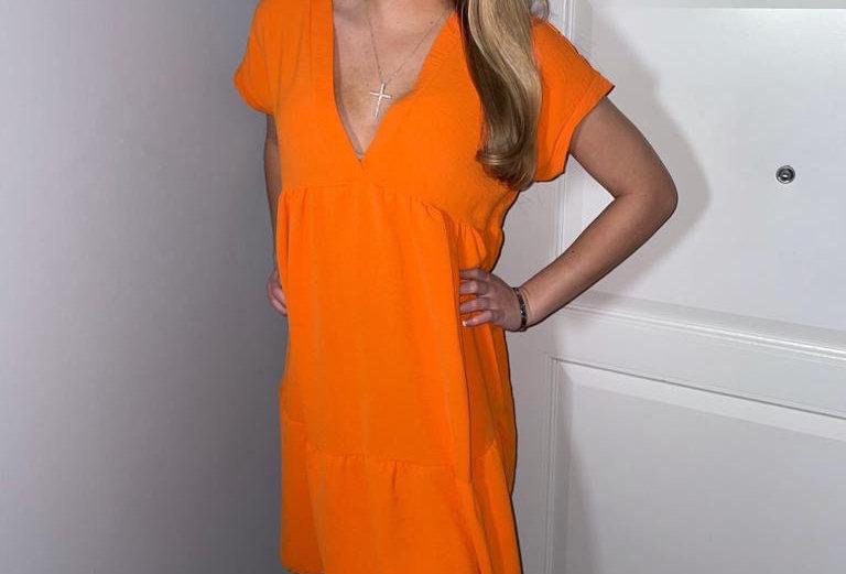 Orange Smock Dress