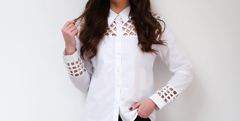 Pearl Lattice Detail Shirt