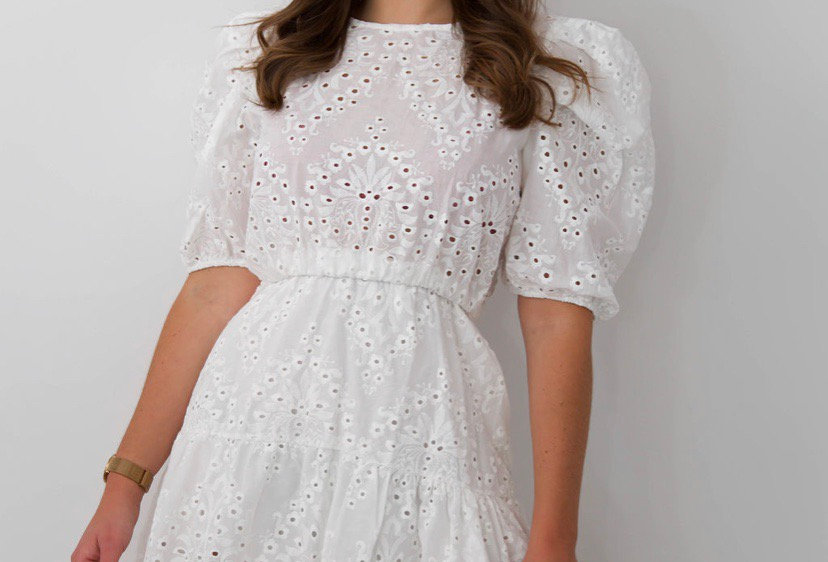 White Embroided Dress