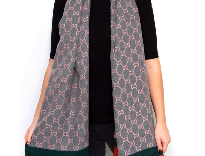 Grey/Pink Reversable Scarf