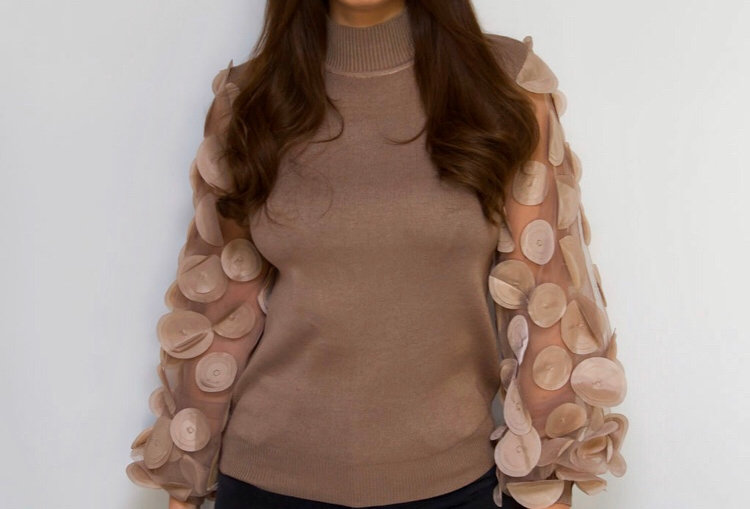 Petal sleeve Jumper