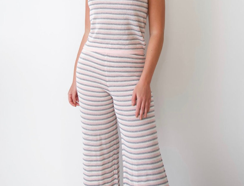 Pink striped Co-ord