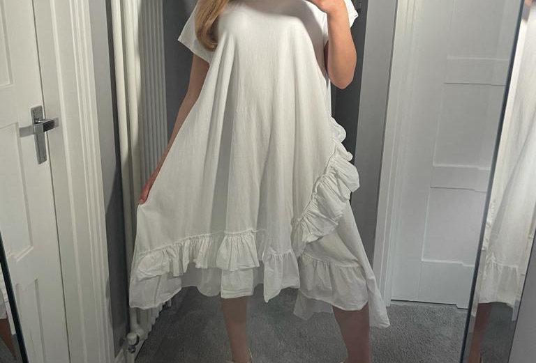 White Frill Dress