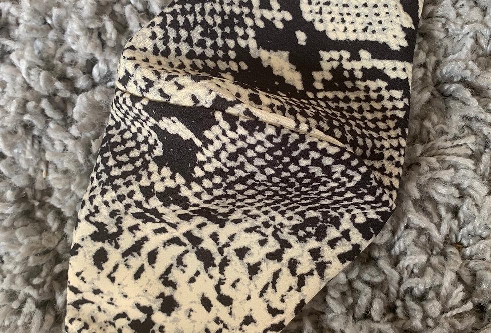 Cream Snake Print Mask