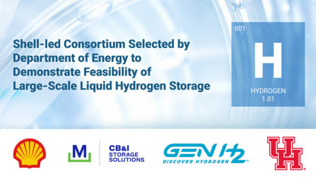 Shell-Led Consortium Selected by DOE to Demonstrate Feasibility of Large-Scale LH2 Storage