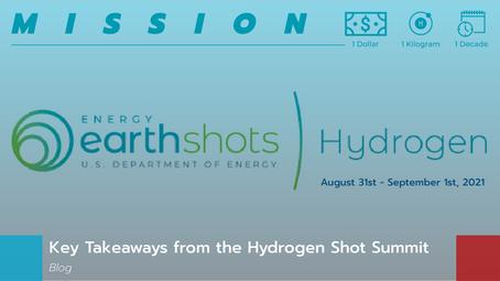 Key Takeaways from the Hydrogen Shot Summit