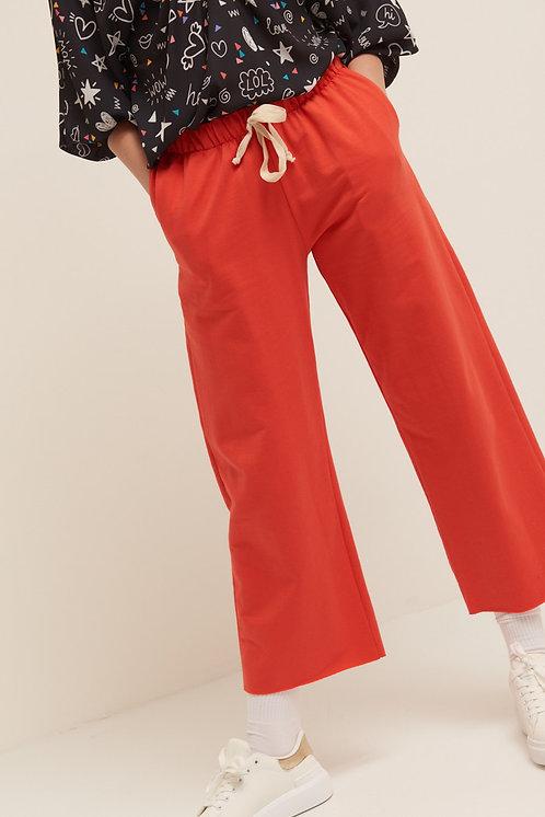 Pantalone felpa palazzo corallo - Kikisix
