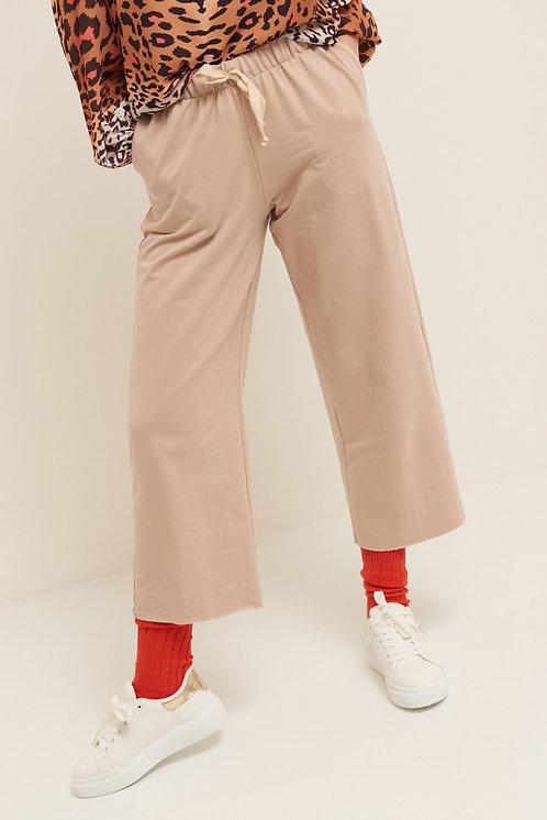 Pantalone felpa palazzo cipria - Kikisix