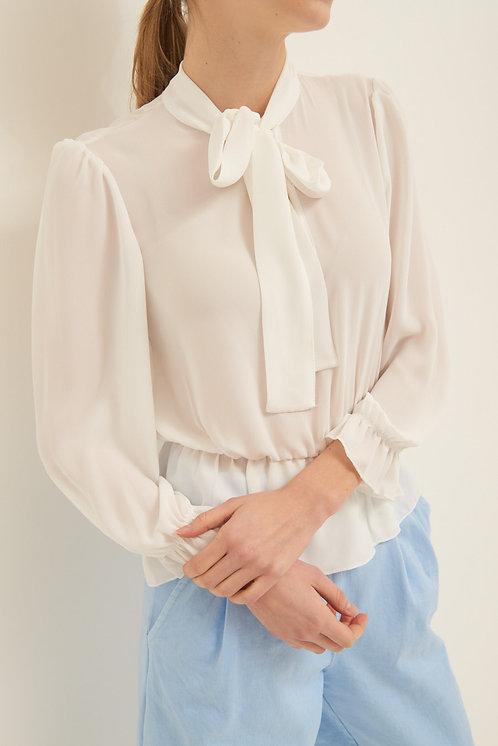 Blusa balze bianca  - Kikisix