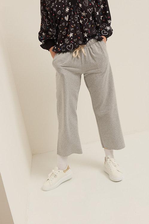 Pantalone felpa palazzo grigio - Kikisix
