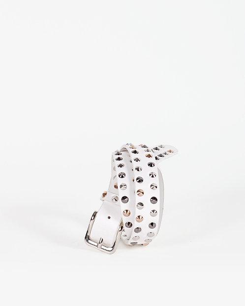 Cintura Studs bianca - Gio Cellini