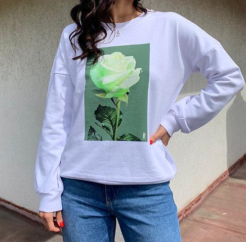Sweatshirt rosa bianca