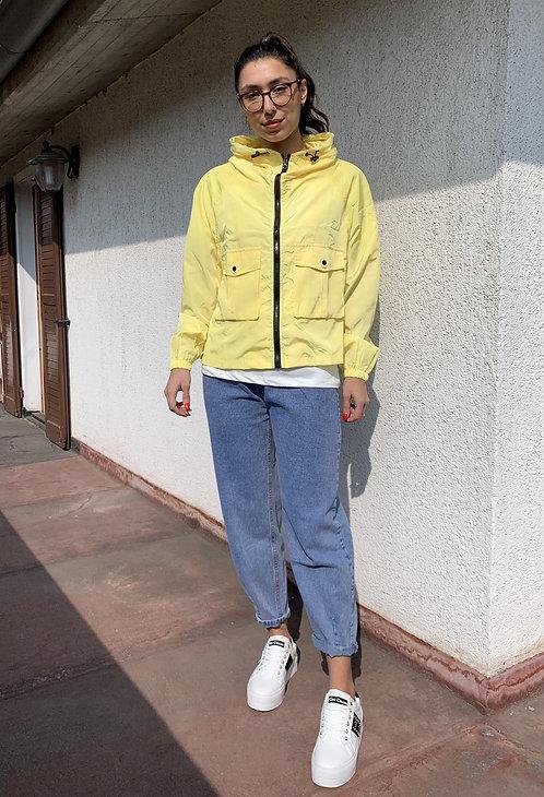 Parka corto con zip giallo - CF