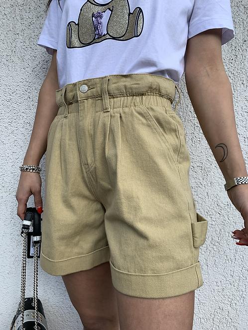Shorts denim caramella beige - REBEL