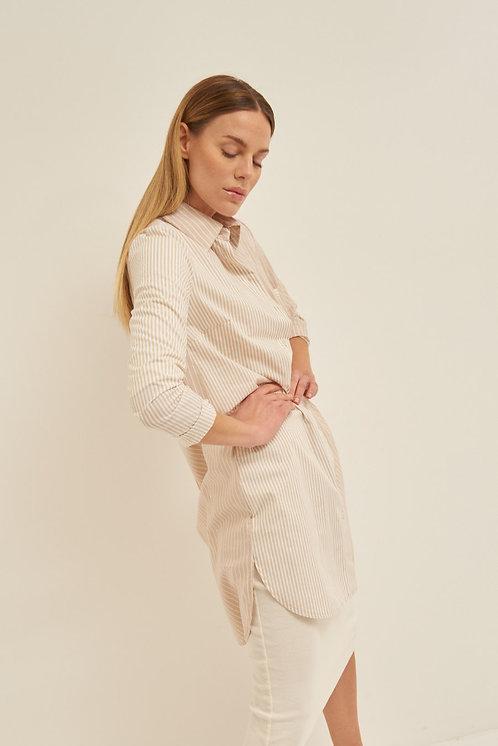 Maxi camicia beige - Kikisix