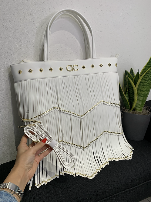 Shopper bag con frange - Gio Cellini