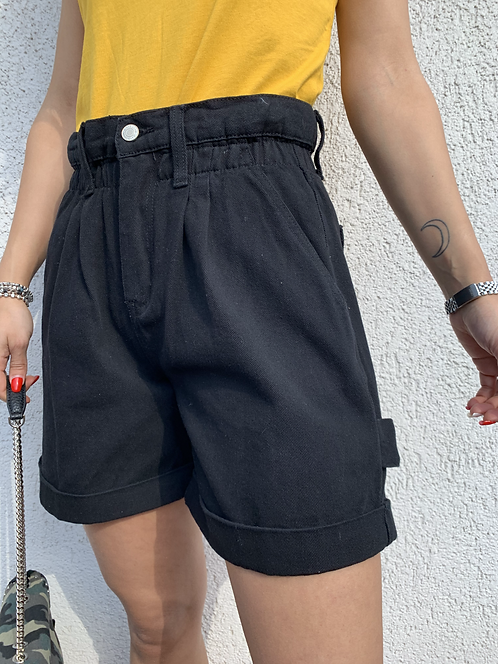 Shorts denim caramella neri - REBEL