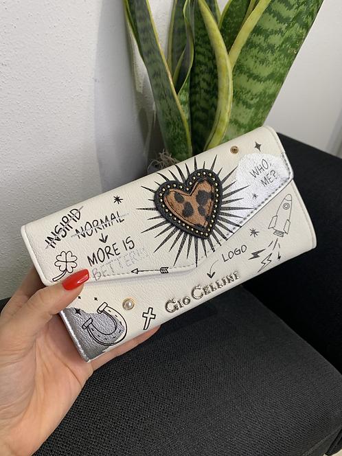 Portafoglio bustina heart bianco -  Gio Cellini