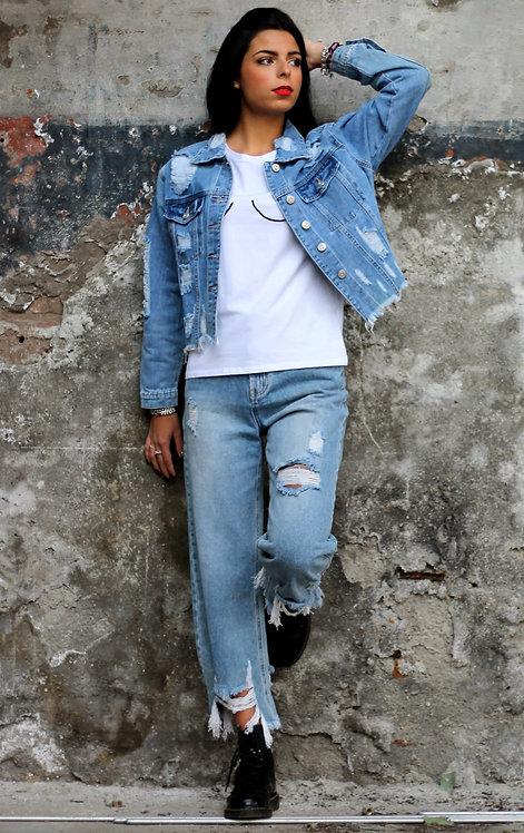 Jeans sfrangiato - REBEL