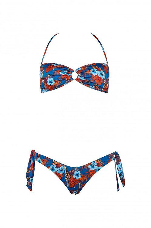 Bikini Nadine giraffe blu - Matinée