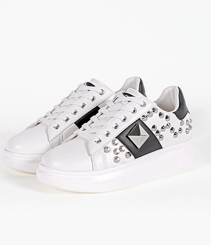 Sneakers borchie bianche - Gio Cellini