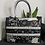 Thumbnail: Shopper bag heart nero - Gio Cellini