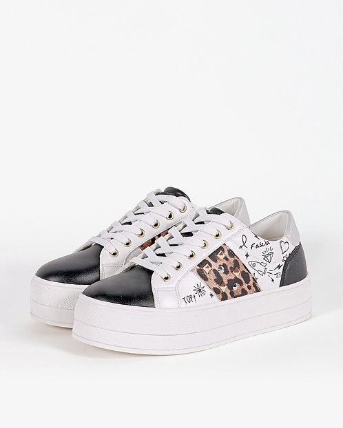 Sneakers platform animalier - Gio Cellini