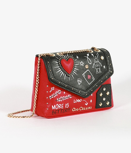 Mini Bag heart rossa