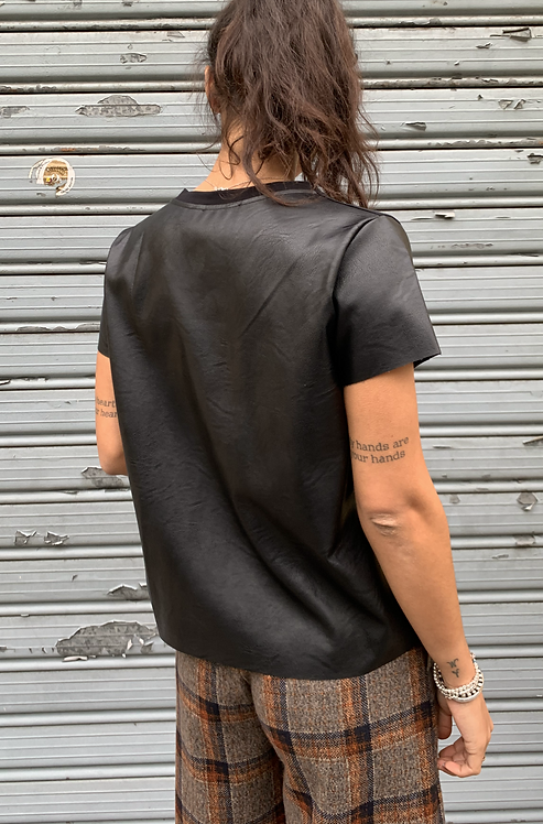 T-shirt ecopelle -PEPEROSA