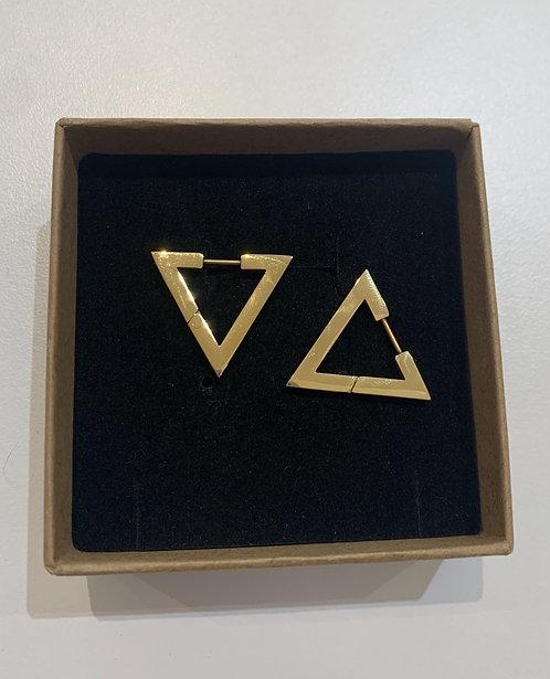 Orecchino a triangolo oro
