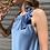 Thumbnail: Abito in raso con fiocco celeste - Adora