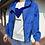 Thumbnail: Parka corto con zip blu - CF