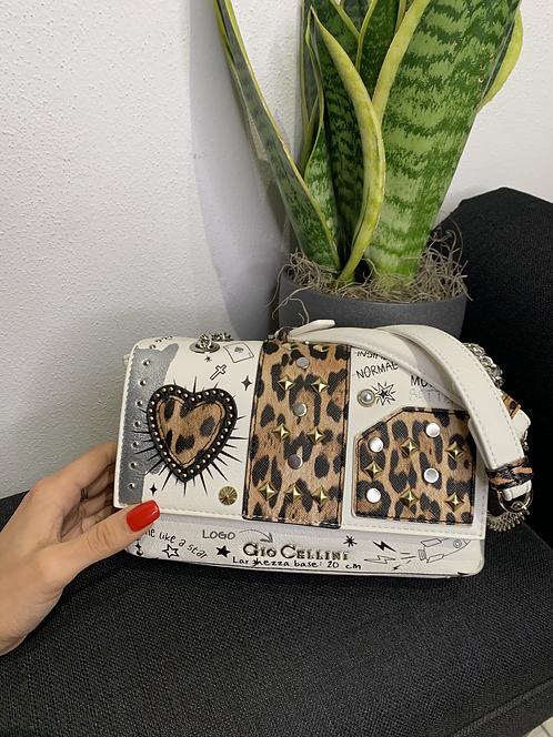 Mini Bag Heart bianco - Gio Cellini