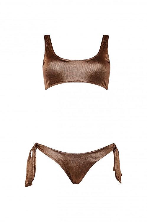 Bikini Martine laminato rame - Matinée