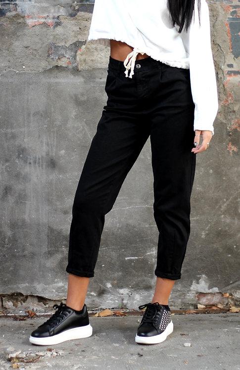 Jeans slouchy nero -KIKISIX