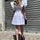Thumbnail: Abito con manica sbuffo bianco - Kikisix