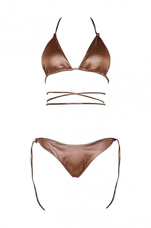 Bikini Sofia laminato rame - Matinée