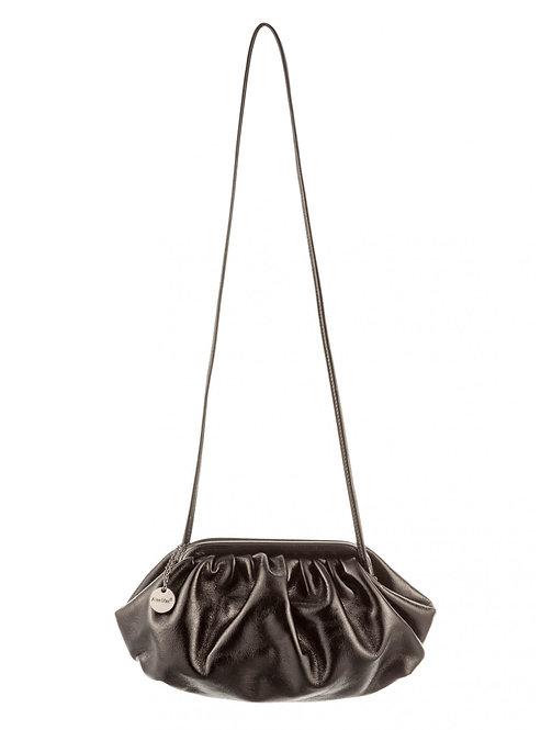 Mini bag pouch laminata nera