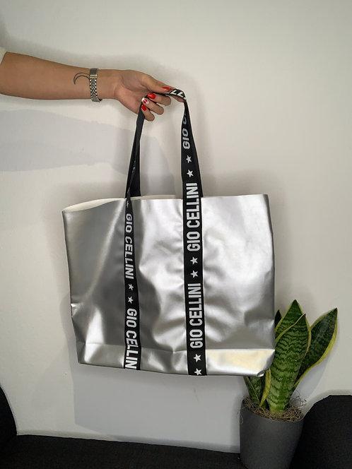 Midi Beach Bag argento - Gio Cellini