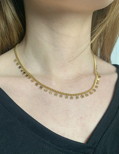 Collana stelle oro