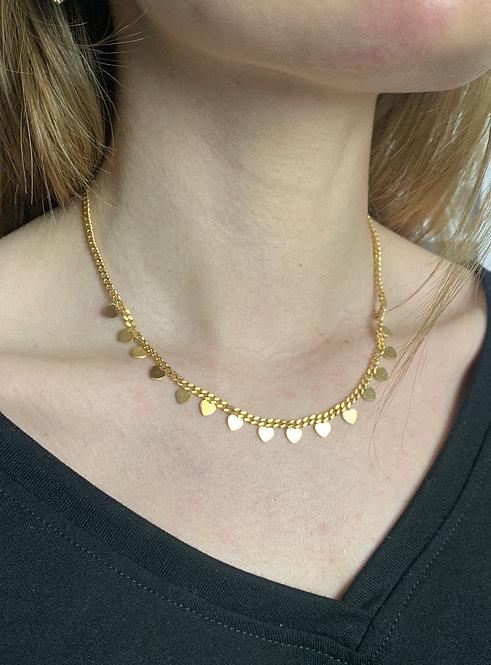 Collana cuori oro