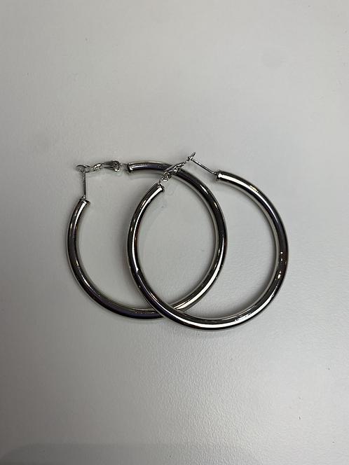 Hoop maxi argento