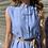 Thumbnail: Maxi camicia riga azzurra - Kikisix