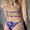Thumbnail: Bikini Camille giraffe blu - Matinée