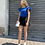 Thumbnail: T-shirt con rouches bluette - Kikisix