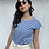 Thumbnail: T-shirt righine blu - CF