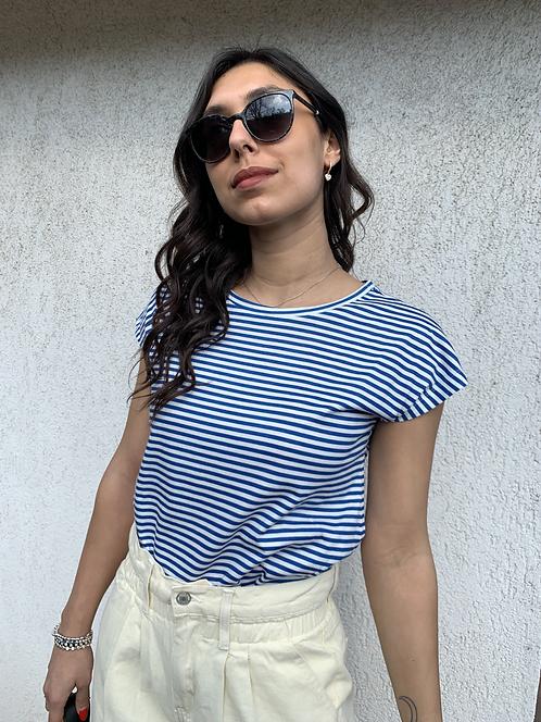 T-shirt righine blu - CF