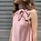 Thumbnail: Abito in raso con fiocco rosa - Adora