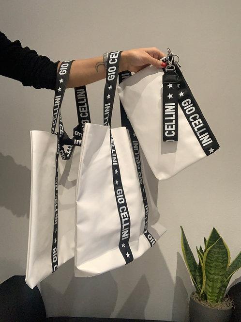 Set 3 Beach Bag bianco - Gio Cellini